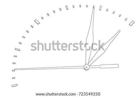 Clock Face Perspective View Vector Rendering Stock Vector (Royalty ...