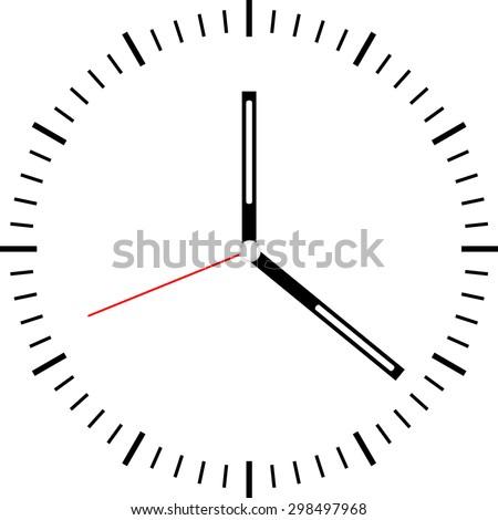 clock face vector - stock vector