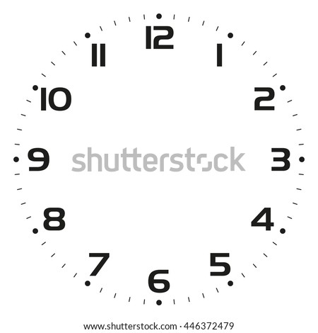 Clock Face Vector Illustration Stock Vector 446372479