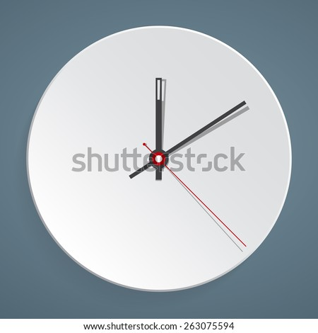 Clock face. Vector. Set up your time. flat illustration - stock vector