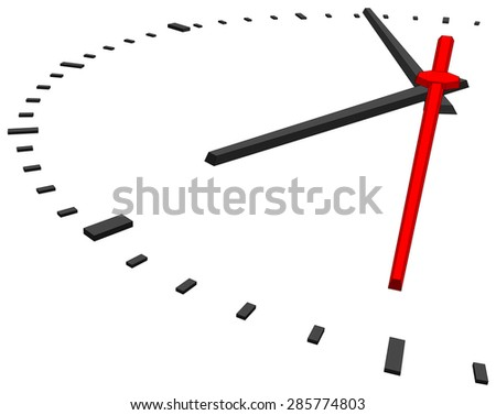 Clock face without numbers on isolated white background. Vector illustration