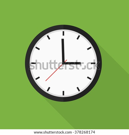 Clock Flat Icon Vector Illustration  - stock vector
