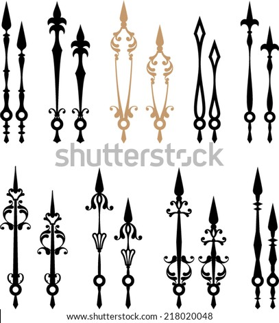 Clock Hands (Arms) - stock vector