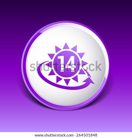clock hour sign graphic 14 illustration number time date white day concept arrow vector. - stock vector