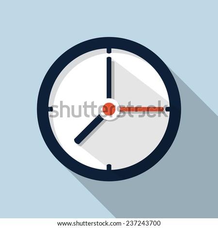 Clock icon - stock vector