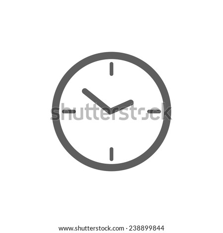 clock icon - stock vector