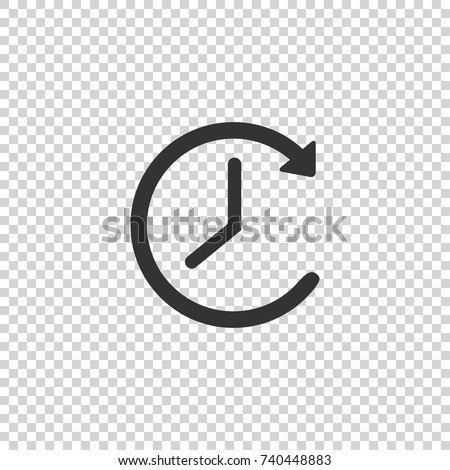 Clock icon. Clock vector icon. Clock icon in trendy flat style