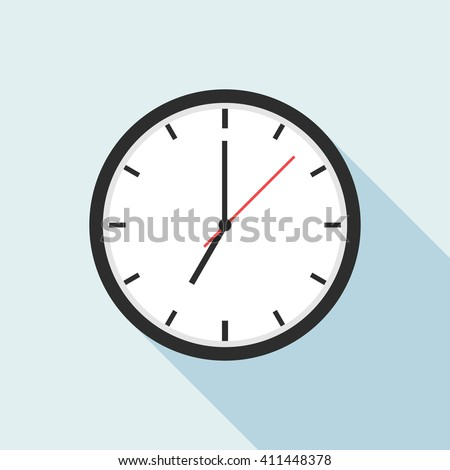 Clock icon design. Office clock icon. Clock vector illustration. Clock icon art. Element for web design and other purposes. - stock vector