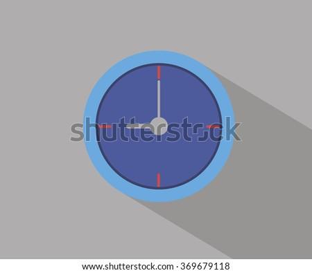 Clock icon flat design vector illustration  - stock vector