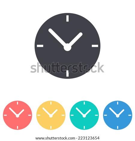 clock icon icon - stock vector