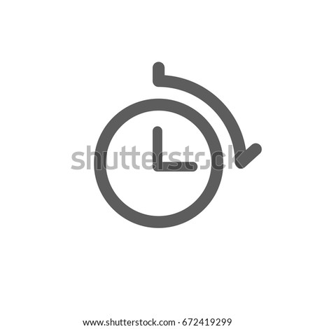 Clock Icon Trendy Flat Style Isolated Stock Vector 672419299