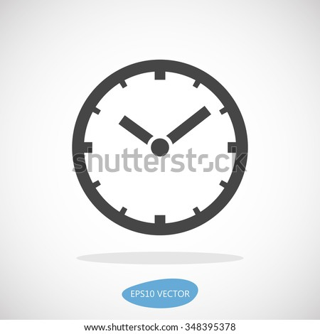 Clock Icon - Isolated Vector Illustration. - stock vector