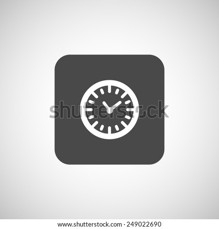 clock icon time vector timer illustration watch graphic - stock vector