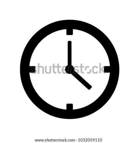 clock icon vector stock vector 1032059110 shutterstock rh shutterstock com clock icon vector free download time clock icon vector