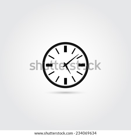 Clock icon - Vector - stock vector