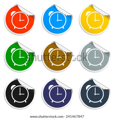 clock icon,  Vector flat Illustrator EPS 10