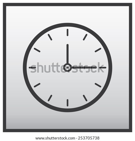 clock icon, vector illustration - stock vector