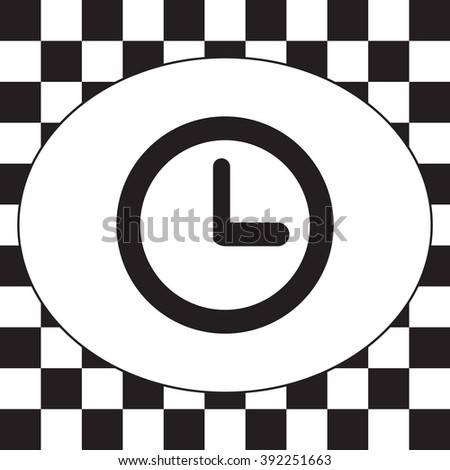Clock icon , Vector illustration flat design
