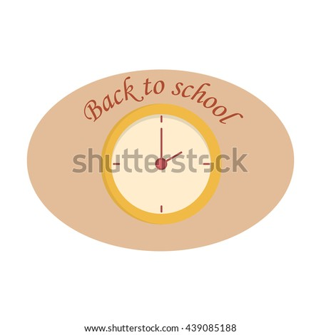Clock icon vector illustration. Watch timer minute clock symbol alarm vector sign. Second circle deadline design. Clock icon concept business element, graphic pointer clock style countdown sign. - stock vector