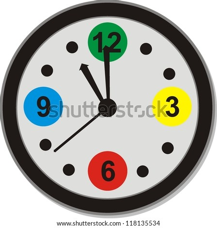 clock icons , signs, vector illustration - stock vector