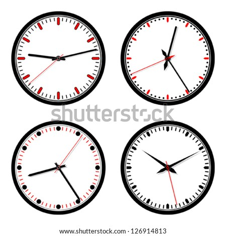 Clock icons vector set