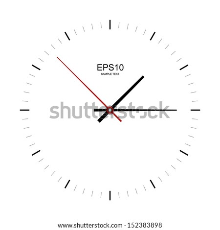 Clock image on white background - Vector illustration - stock vector