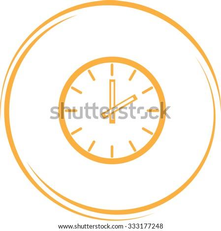clock. Internet button. Vector icon. - stock vector