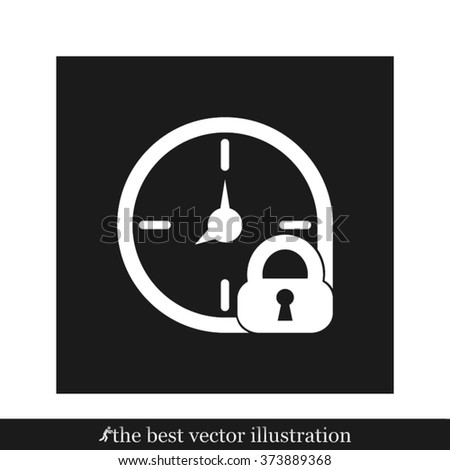 clock lock  icon eps10, clock lock  icon illustration, clock lock  icon picture, clock lock  icon flat, clock lock  web icon, clock lock  icon art, clock lock  icon drawing, clock lock  icon - stock vector