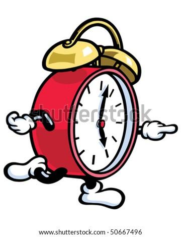 Clock Man Running - stock vector