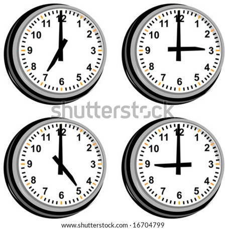 Clock showing different time zones