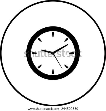 clock symbol - stock vector