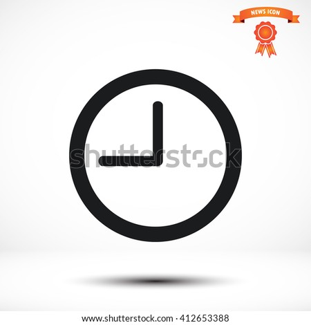 clock, time vector icon