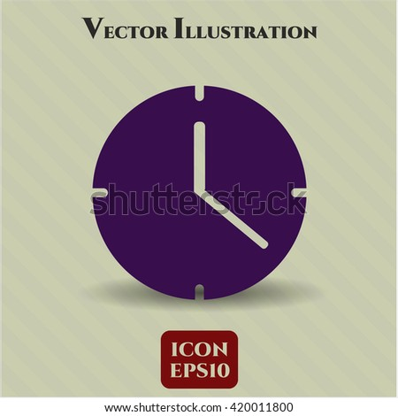 Clock (Time) vector icon