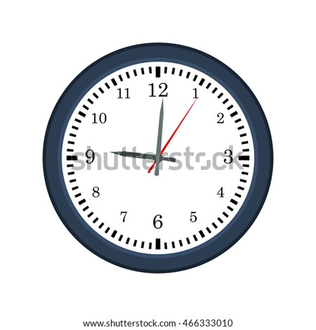 clock traditional time instrument icon. Isolated and flat illustration. Vector graphic