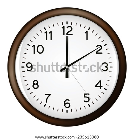 Illustration Old Clock Face Perspective Angle Stock Vector