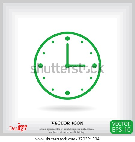 clock vector icon - stock vector
