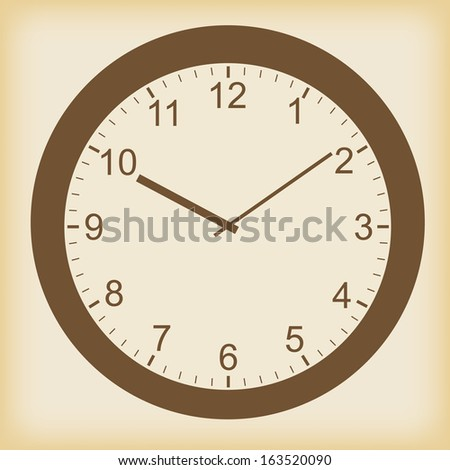 Clock vector icon in a unique style - stock vector