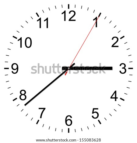 Clock vector icon on a white background - stock vector