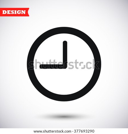 Clock vector icong - stock vector