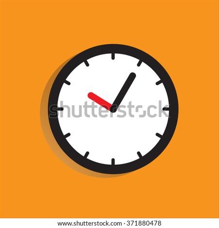 Clock vector illustration flat design. - stock vector