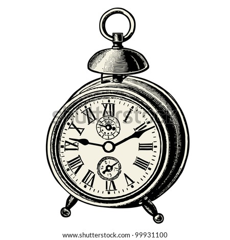 Clock - vintage engraved illustration - Catalog of a French department store - Paris 1909 - stock vector