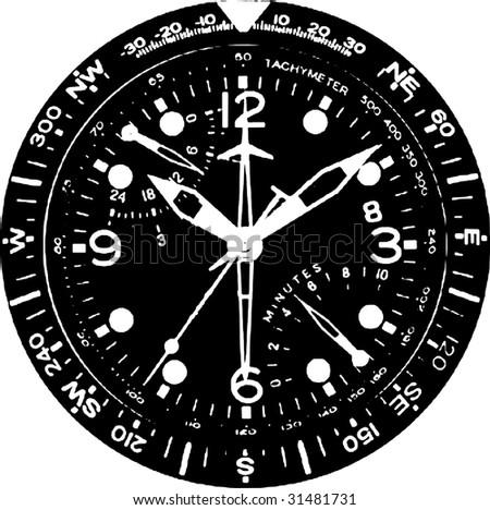 Clock Watch Vector 05 - stock vector