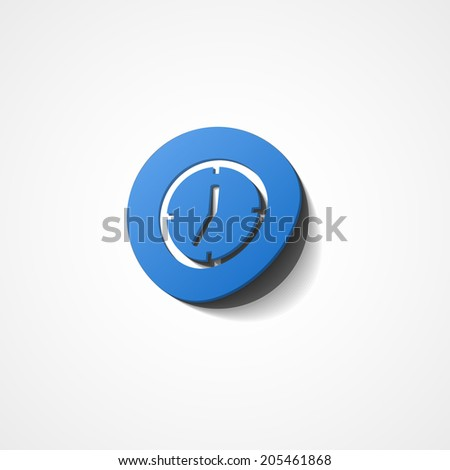 Clock web icon on white background