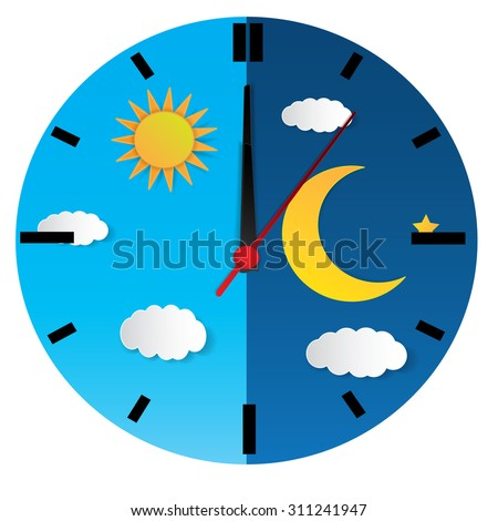 stock-vector-clock-with-day-night-concep