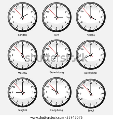 Time Zone Clocks Stock Images, Royalty-Free Images ...
