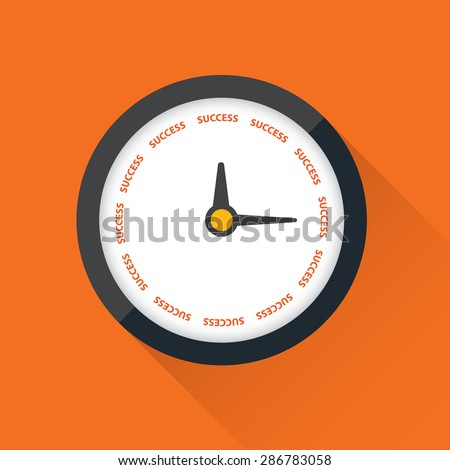 clock with Time for Success on its face, vector - stock vector