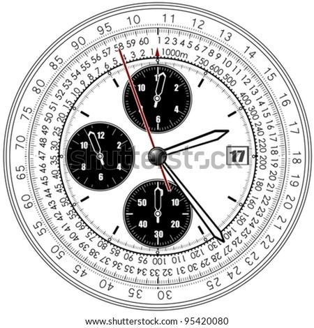 clocks - stock vector