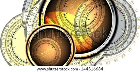 clocks background - stock vector