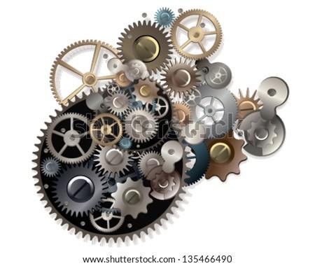 clockwork - stock vector