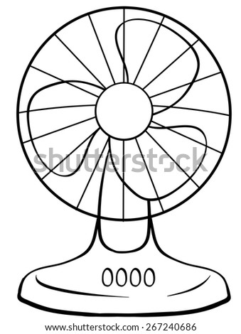 fan clipart black and white. close up electric fan with buttons clipart black and white l